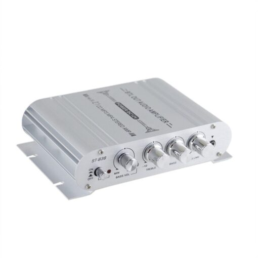 Mini 12V Digital Subwoofer HiFi Stereo BASS 2 1 Channel Audio Cable Amplifier for Home Car 2