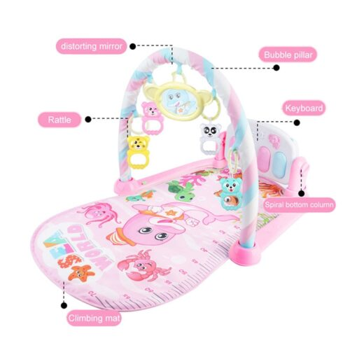 Mini Baby Play Mat Kids Rug Educational Puzzle Carpet With Piano Keyboard And Cute Animal Playmat 4