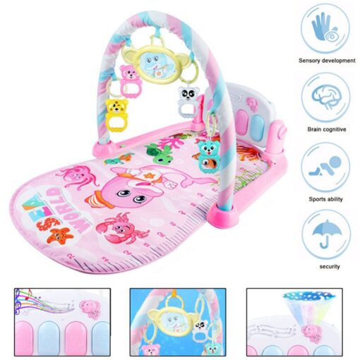 Mini Baby Play Mat Kids Rug Educational Puzzle Carpet With Piano Keyboard And Cute Animal Playmat 5