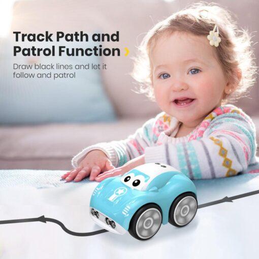 Mini Cute RC Car Inductive Toy For Children Kids Electric Remote Control Car 25Mins Aotu Follow 2