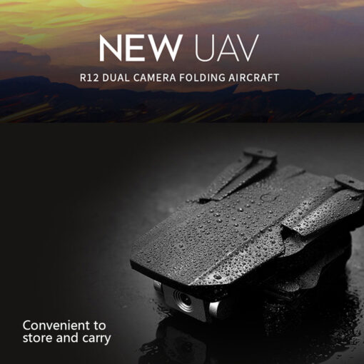 Mini Drone 4K 1080P Wide Angle Camera Drones Wifi FPV Height Hold Mode Black RC Drone 1