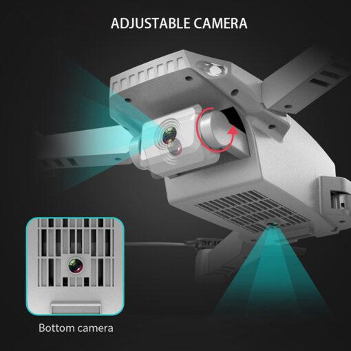 Mini Drone 4K 1080P Wide Angle Camera Drones Wifi FPV Height Hold Mode Black RC Drone 2