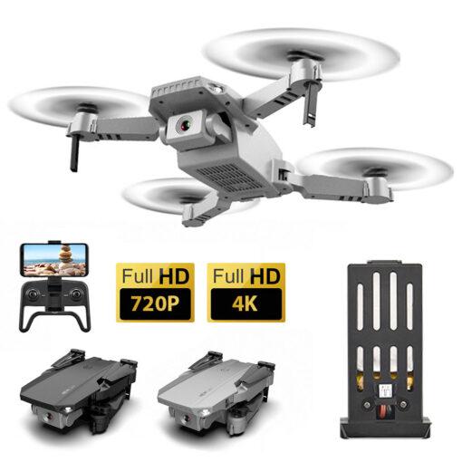 Mini Drone 4K 1080P Wide Angle Camera Drones Wifi FPV Height Hold Mode Black RC Drone 3