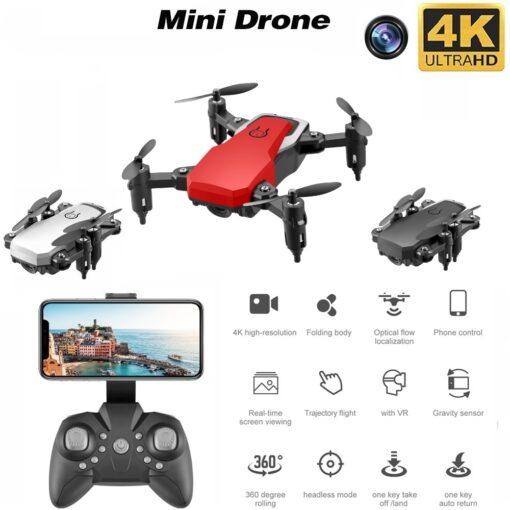 Mini Drone LF606 4K HD Camera Foldable Quadcopter One Key Return FPV Drones Follow Me RC 1