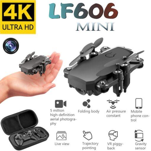 Mini Drone LF606 4K HD Camera Foldable Quadcopter One Key Return FPV Drones Follow Me RC
