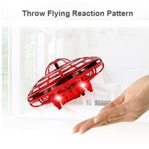 Mini Drone UFO Hand Operated RC Helicopter Quadrocopter Dron Infrared Induction Aircraft Flying Ball Toys For 12