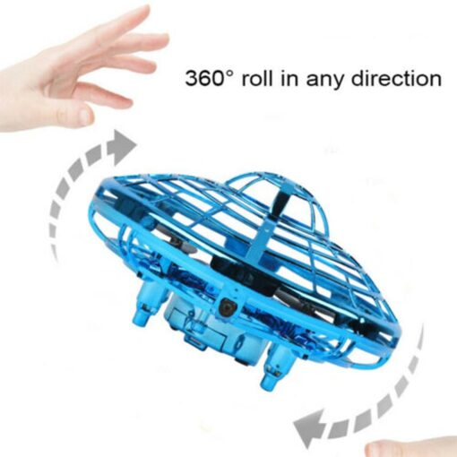 Mini Drone UFO Hand Operated RC Helicopter Quadrocopter Dron Infrared Induction Aircraft Flying Ball Toys For 15