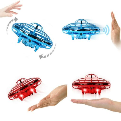 Mini Drone UFO Hand Operated RC Helicopter Quadrocopter Dron Infrared Induction Aircraft Flying Ball Toys For 16