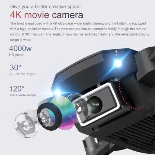 Mini Drone With 720P 4K HD Camera Aerial RC Quadcopter Optical Flow Hover Smart Follow Helicopter 2