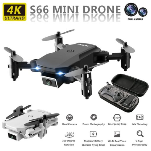 Mini Drone With 720P 4K HD Camera Aerial RC Quadcopter Optical Flow Hover Smart Follow Helicopter