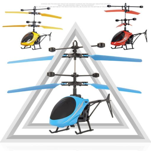 Mini RC Drone Flying RC Helicopter with Remote Control Aircraft Suspension Induction Helicopter LED Light Toys 1