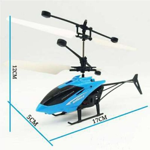 Mini RC Drone Flying RC Helicopter with Remote Control Aircraft Suspension Induction Helicopter LED Light Toys 4