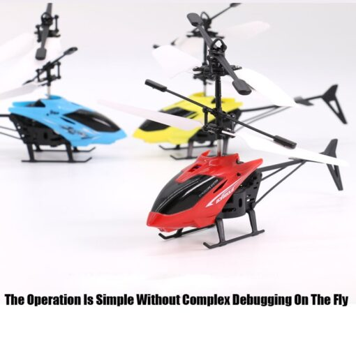 Mini Remote Control Drone Helicopter Flying Suspension Induction Aircraft LED Light USB Charge Dron Boy Gift 1