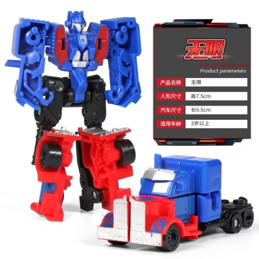 Mini Transformation Robot Toy Engineering Vehicle Model Educational Assembling Deformation Toy for Children Action Figure Car 1