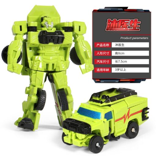 Mini Transformation Robot Toy Engineering Vehicle Model Educational Assembling Deformation Toy for Children Action Figure Car 2