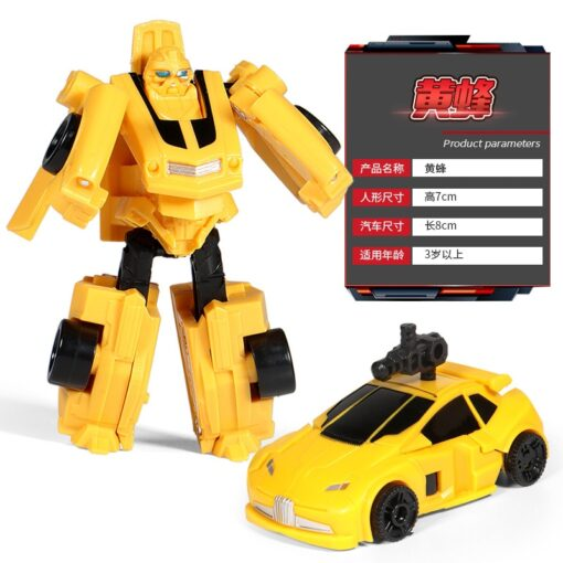 Mini Transformation Robot Toy Engineering Vehicle Model Educational Assembling Deformation Toy for Children Action Figure Car 3