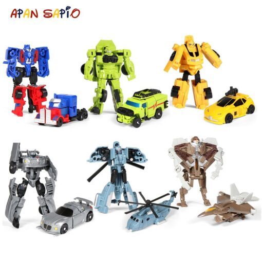 Mini Transformation Robot Toy Engineering Vehicle Model Educational Assembling Deformation Toy for Children Action Figure Car