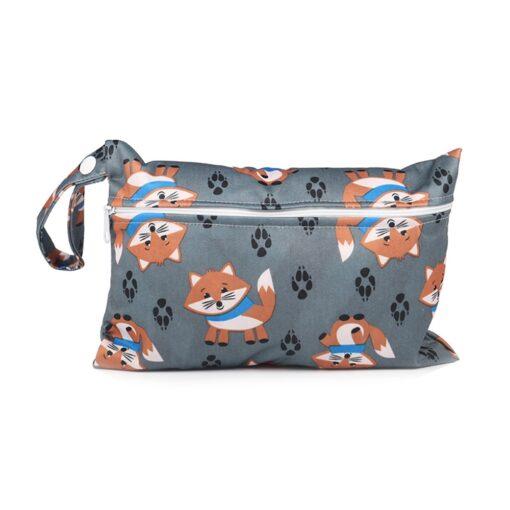 Mini Wet Bag Reusable For Nursing Menstrual Pads Waterptoof PUL Snap Handle Wetbag Maternity Diaper Bag 1