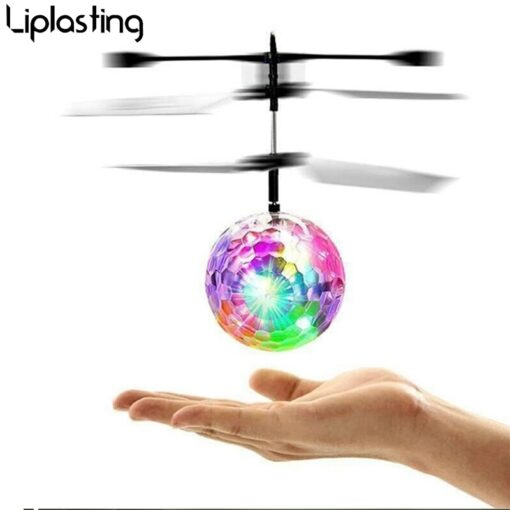 Mini drone Remote Control RC Helicopter Aircraft Flying Ball flying toys Ball LED Light Quadcopter Dron 2
