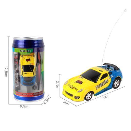 Miniature Racing Coke Tank Car Mini Speed Radio Remote Control Christmas Multicolor Coke Can Mini Children 2