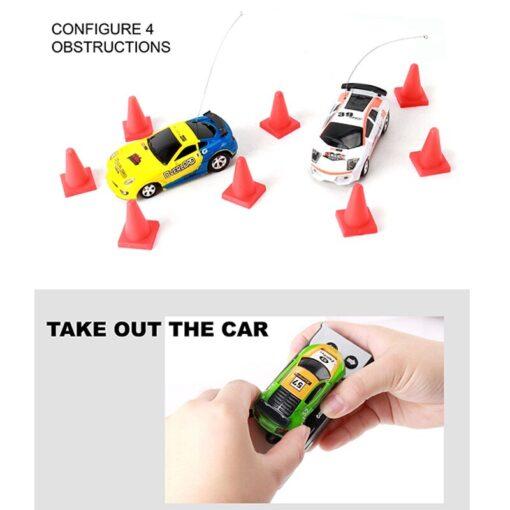 Miniature Racing Coke Tank Car Mini Speed Radio Remote Control Christmas Multicolor Coke Can Mini Children 5