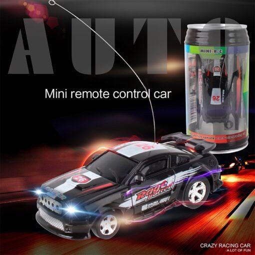 Miniature Racing Coke Tank Car Mini Speed Radio Remote Control Christmas Multicolor Coke Can Mini Children