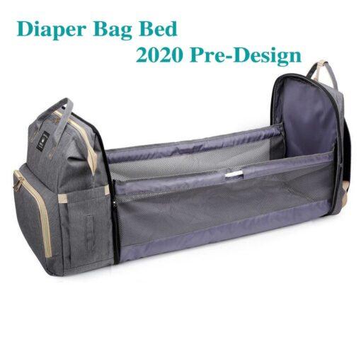 Moms Dads Multifunctional Diaper Bag Bed Backpack Baby Bed Cribs Bags Mummy Travel Maternity Nursing Handbag 1