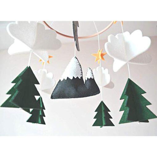 Moon Handmade For Boys Nursery Decoration Play Starry Night Baby Girls Bedroom Crib Mobile Woodland Hanging 1