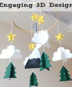 Moon Handmade For Boys Nursery Decoration Play Starry Night Baby Girls Bedroom Crib Mobile Woodland Hanging 2