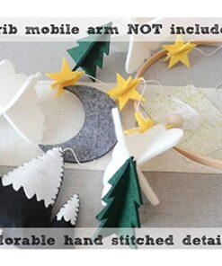 Moon Handmade For Boys Nursery Decoration Play Starry Night Baby Girls Bedroom Crib Mobile Woodland Hanging 3