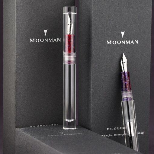 Moonman C1 Large Ink Capacity Eyedropper Transparent Clear Fountain Eye Dropper Filling Pen F Nib Ink 1