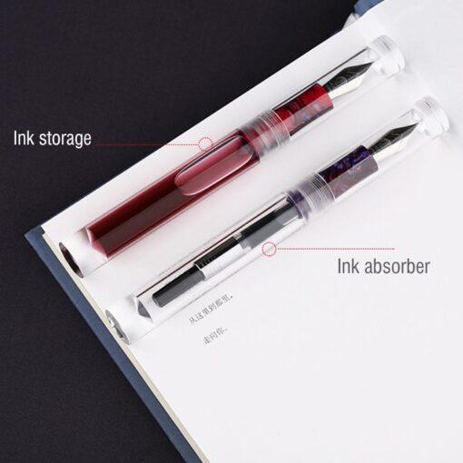 Moonman C1 Large Ink Capacity Eyedropper Transparent Clear Fountain Eye Dropper Filling Pen F Nib Ink 2