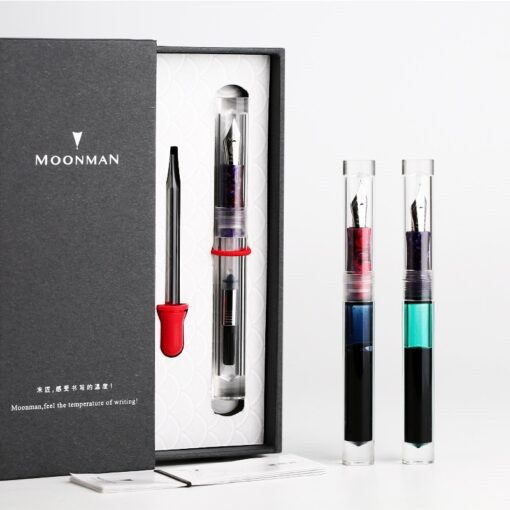 Moonman C1 Large Ink Capacity Eyedropper Transparent Clear Fountain Eye Dropper Filling Pen F Nib Ink