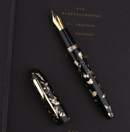 Moonman M8 Fountain Pen Colorful Acrylic Luxury Pen Fine Nib Converter Gift Pen Writing Ink School 2