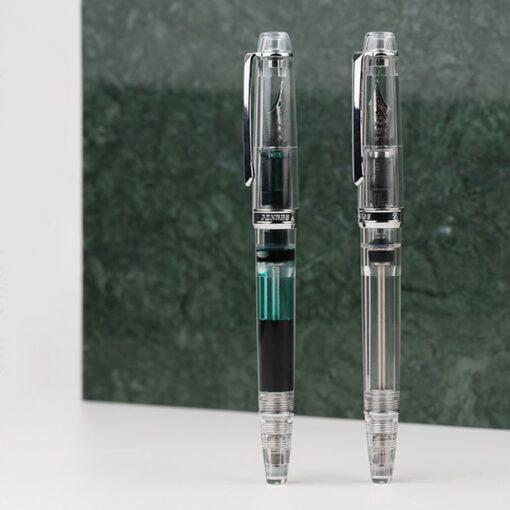 Moonman PENBBS 268 Vacuum Filling Fully Transparent Fountain Pen Resin Iridium Fine Nib 0 5mm Writing