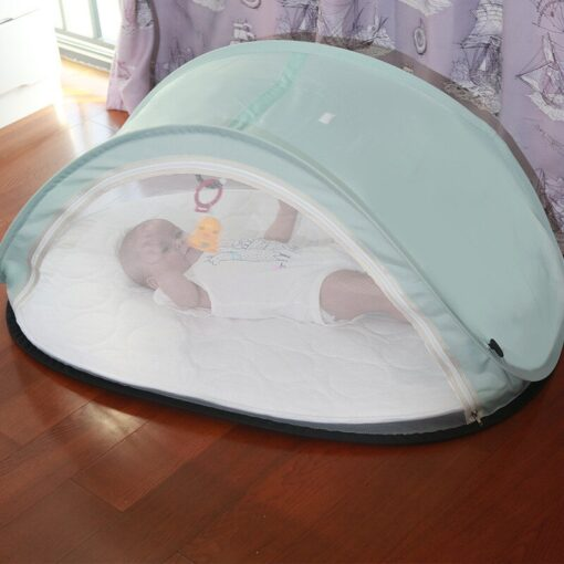 Mother Kids Baby Furniture Baby Cribs New Convenient Newborn Folding Bed Mosquito Repellent Dust Proof breathable 1