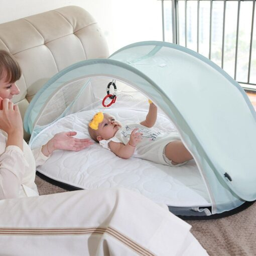 Mother Kids Baby Furniture Baby Cribs New Convenient Newborn Folding Bed Mosquito Repellent Dust Proof breathable