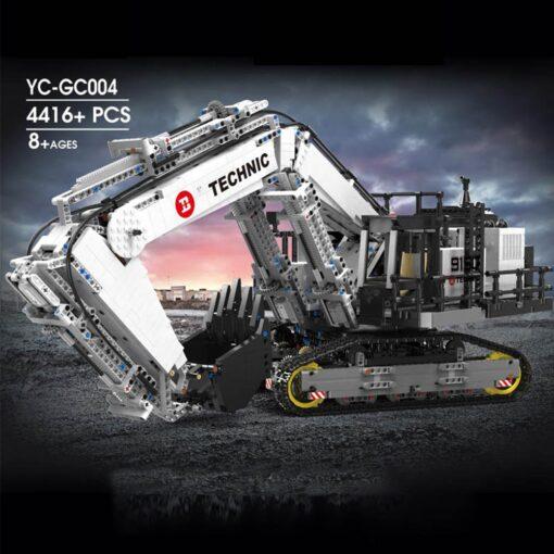 Motor Technic Car Model Compatible With 42100 Liebherrs R 9800 Excavator Model 20007 Building Blocks Bricks 2