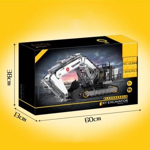 Motor Technic Car Model Compatible With 42100 Liebherrs R 9800 Excavator Model 20007 Building Blocks Bricks 5
