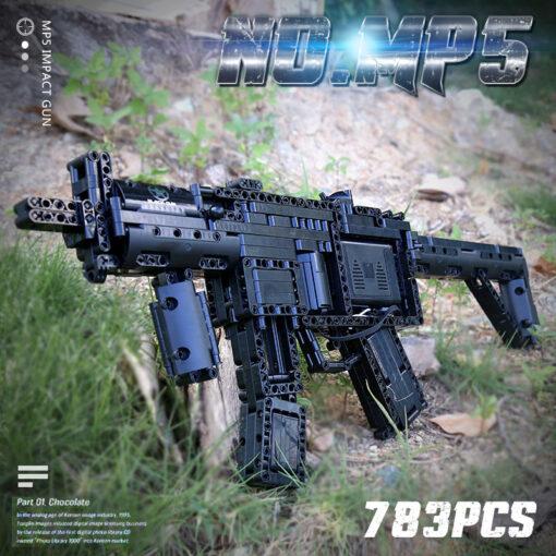 Motorized Block Gun Compatible With MOC 29369 MP5 Submachine Gun Model Building Blocks Bricks Kids Christmas 10