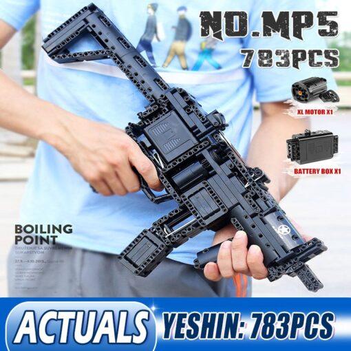 Motorized Block Gun Compatible With MOC 29369 MP5 Submachine Gun Model Building Blocks Bricks Kids Christmas 6