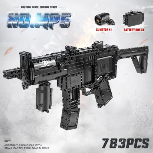 Motorized Block Gun Compatible With MOC 29369 MP5 Submachine Gun Model Building Blocks Bricks Kids Christmas 7