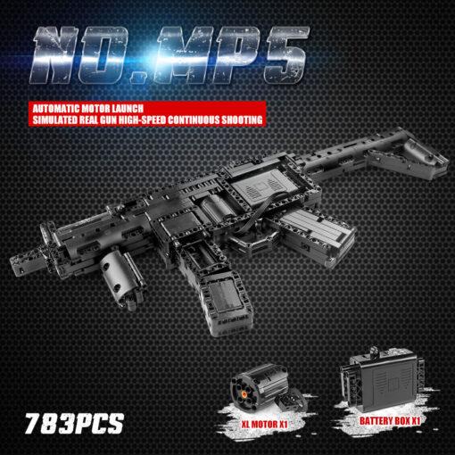 Motorized Block Gun Compatible With MOC 29369 MP5 Submachine Gun Model Building Blocks Bricks Kids Christmas 9