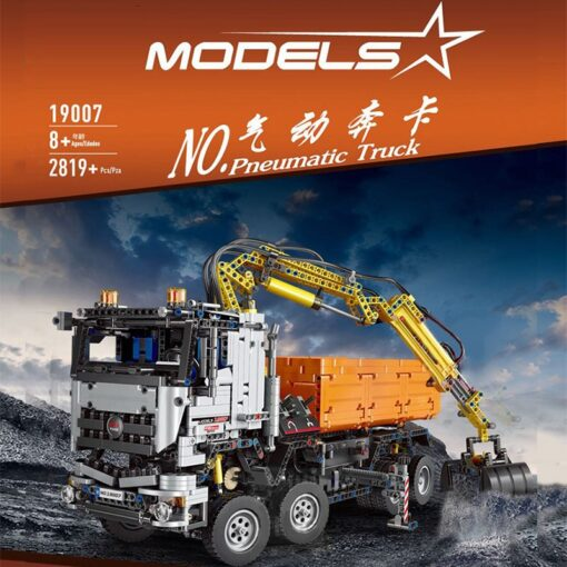 Motorized Technic Car Toys Compatible With 42043 Truck Car Model Building Blocks Assembly 20005 Bricks Toys 3