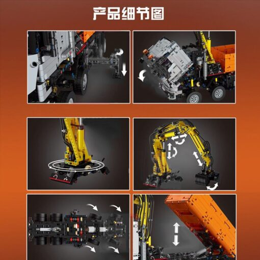 Motorized Technic Car Toys Compatible With 42043 Truck Car Model Building Blocks Assembly 20005 Bricks Toys 5