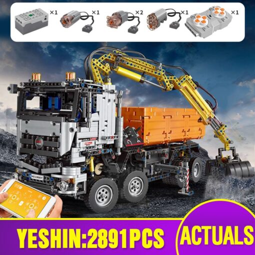 Motorized Technic Car Toys Compatible With 42043 Truck Car Model Building Blocks Assembly 20005 Bricks Toys