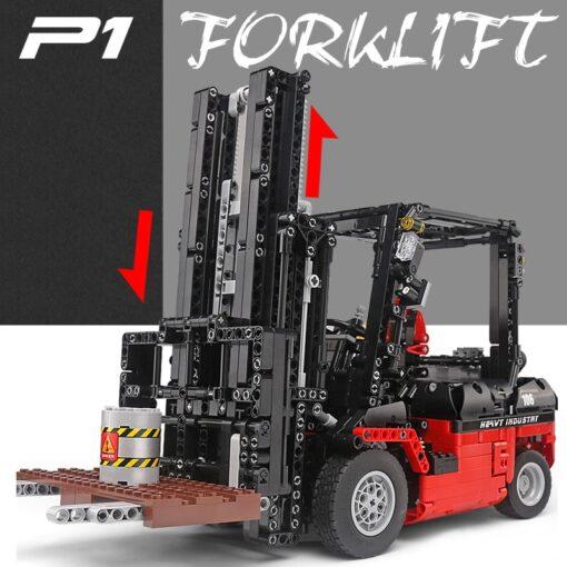 Mould King 13106 Technic Motor Power Mobile Crane Forklift Mk II Car Building Kits Blocks Bricks 2