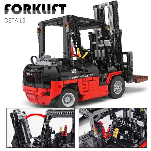 Mould King 13106 Technic Motor Power Mobile Crane Forklift Mk II Car Building Kits Blocks Bricks 3