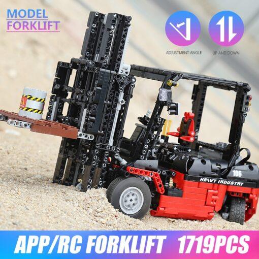 Mould King 13106 Technic Motor Power Mobile Crane Forklift Mk II Car Building Kits Blocks Bricks 4