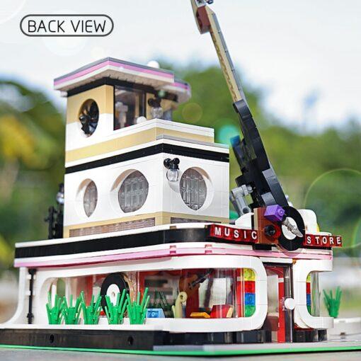 Mould King MOC Creator Street Downtown Diners Guitar house Street View Model Building Blocks Bricks Kids 3